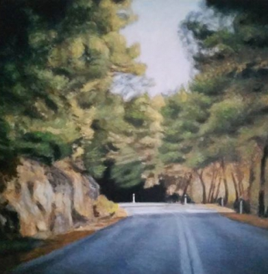 The Road, oil on canvas