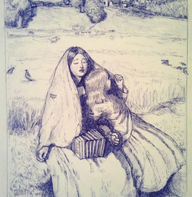 Study of Millais� The Blind Girl